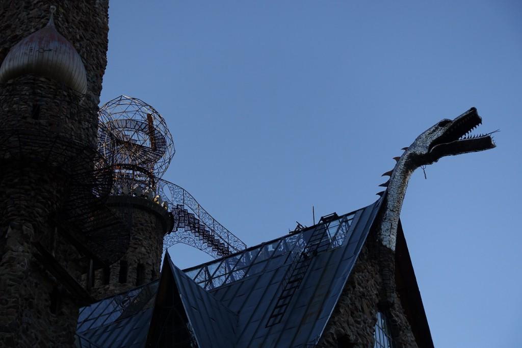The dragon chimney at Bishop's Castle