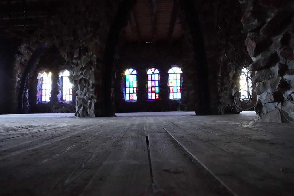 A shot from inside the castle.