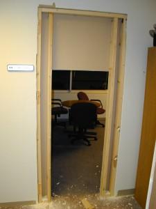 Door under construction
